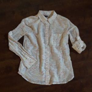 Ann Taylor Convertible Button Down Shirt Size XS